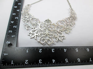 metal bib necklace with measurement