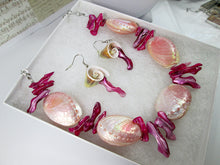 Load image into Gallery viewer, pink mermaid jewelry set