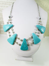 Load image into Gallery viewer, turquoise bib necklace