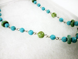 blue green turquoise necklace