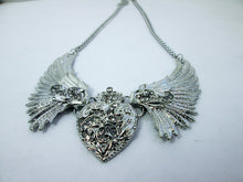 Load image into Gallery viewer, crystal heart wing necklace