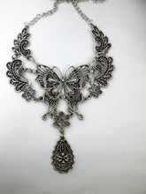 Load image into Gallery viewer, steampunk butterfly bib necklace