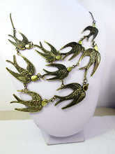 Load image into Gallery viewer, flock of birds bib necklace