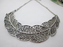 Load image into Gallery viewer, large metal feather sideways necklace