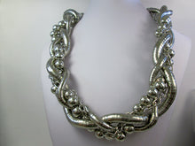 Load image into Gallery viewer, large silver braided necklace