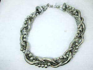 silver berry vine necklace