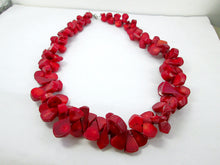 Load image into Gallery viewer, red coral statement necklace