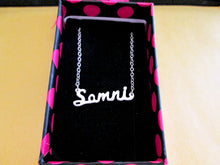 Load image into Gallery viewer, hand cut name necklace