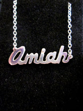 Load image into Gallery viewer, hand cut name pendant