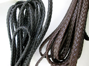 genuine braided leather