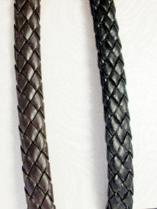 braided leather black and brown