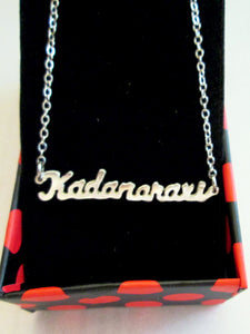 custom name cut necklace
