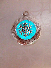 Load image into Gallery viewer, glow in the dark snowflake keepsake necklace