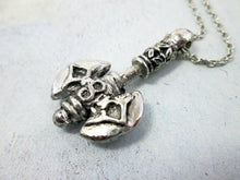 Load image into Gallery viewer, double blade axe pendant necklace
