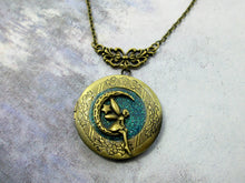 Load image into Gallery viewer, moon fairy locket necklace