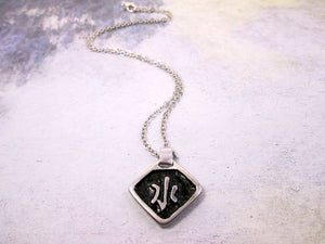 water element Chinese symbol pendant necklace