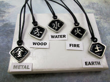 Load image into Gallery viewer,  metal wood water fire earth element necklace Chinese symbol pendant necklace