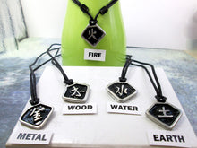 "Load image into Gallery viewer, ""Metal, Wood, Water, Fire, Earth"" Element Chinese Symbol pendant necklace"