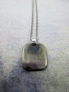 pendant on metal chain