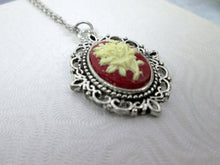 Load image into Gallery viewer, victorian flower cameo necklace