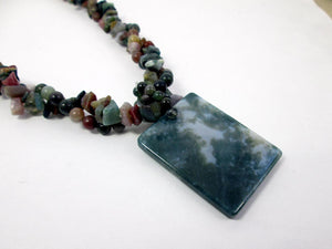 multi gem stone jasper necklace