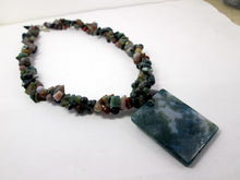 Load image into Gallery viewer, green jasper necklace