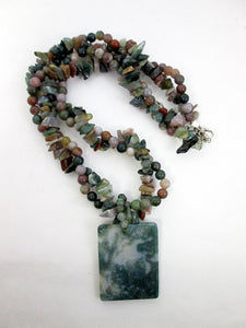 multi gemstones necklace