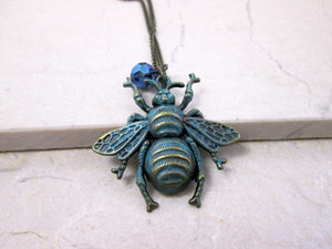 vintage inspired bee necklace