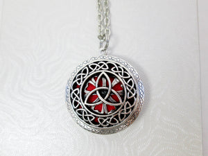 celtic knots trinity locket necklace