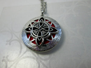 celtic trinity cross locket pendant