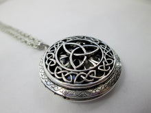 Load image into Gallery viewer, celtic locket necklace