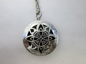 trinity knot perfume necklace