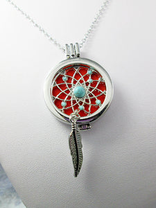 dream catcher locket necklace
