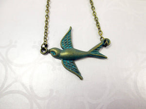 small bird necklace