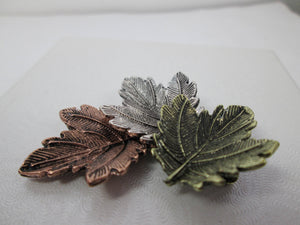 Retro Maple Leaf Brooch Pin for Unisex Tricolor Maple Leaf Canada Gift
