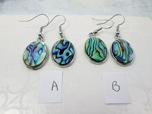 Load image into Gallery viewer, paua shell earrings