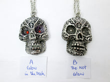 Load image into Gallery viewer, Sugar Skull pendant necklace