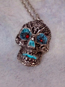 handmade skull necklace