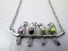 Load image into Gallery viewer, four birds necklace