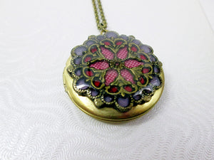 antique gold filigree locket