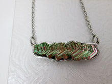 Load image into Gallery viewer, sideway hangs bismuth necklace