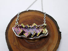 Load image into Gallery viewer, Purple Bismuth Sideways Necklace