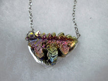Load image into Gallery viewer, purple rainbow bismuth necklace
