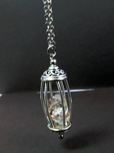 diamond quartz necklace