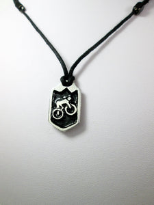 Biker pendant necklace