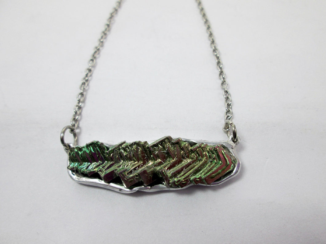 bismuth pendant necklace