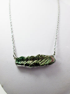 metal crystal bismuth necklace