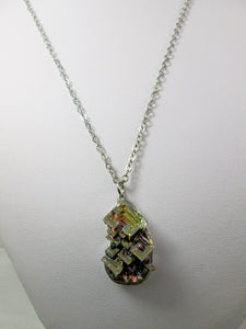 unisex bismuth pendant necklace