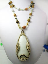 Load image into Gallery viewer, chunky white stone necklace
