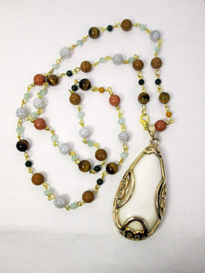 convertible semi precious stone necklace